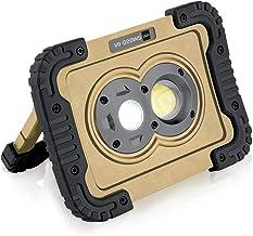 キシマ LED ワークライト 800lm 3段階調整 集光 広範囲 IP65 防水 防塵 電池式 スタンド ハンディ フック 壁 マグネット サンド