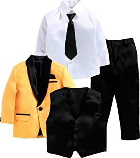 Jeet Creation Boys Yellow Coat Suit (9063CHV)