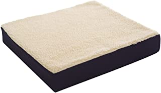Essential Medical Supply Fleece Covered Wheelchair Cushion, 18 Inches X 16 Inches X 3 Inches