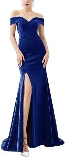 Women's Prom Dress Off Side Split Bridesmaid Dress Mermaid Evening Gown