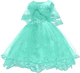 Girls Dress Kids Pageant Flower Princess Party Dresses Wedding Bridesmaid Party Christening Dress Princess Lace Dress,C,9~10T
