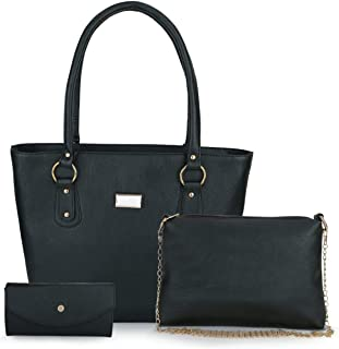 Mimisku handbag set with handbag, sling bag and wallet