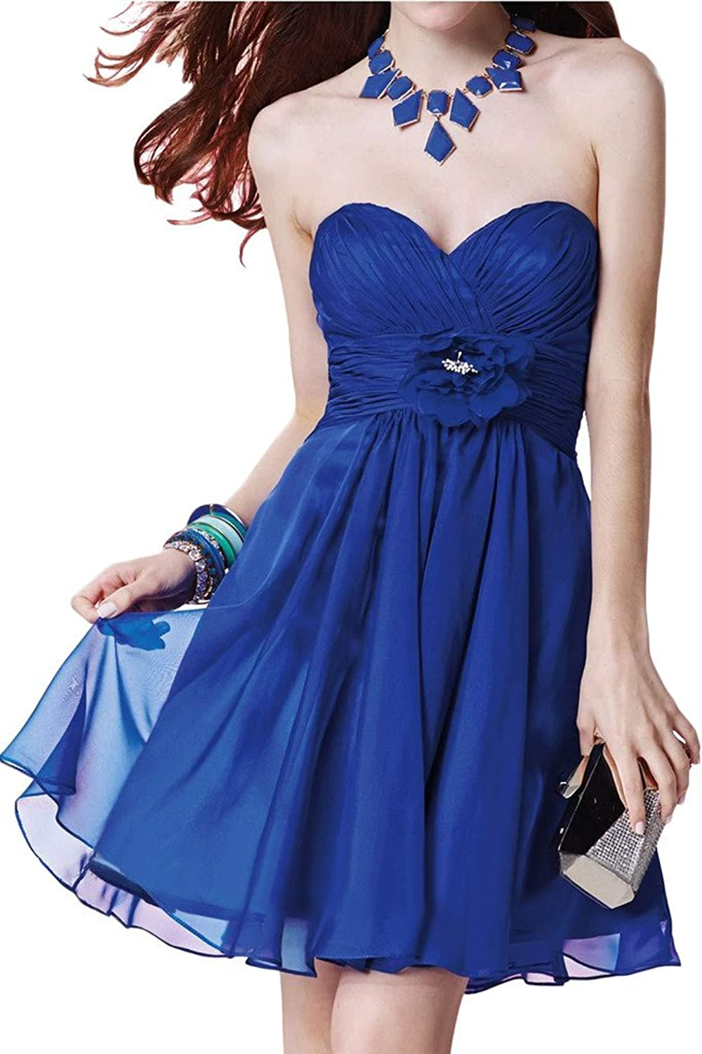 Avril Dress Sweetheart Ruched Flower Belt ALine Cocktail Homecooming Prom Dress