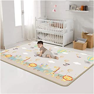 Waterproof Baby Play Crawling Mat, Kids Large Double Sides Portable EPE Crawling Non-Slip Safe & Protective Mat for Outdoor Indoor Play (As Shown)