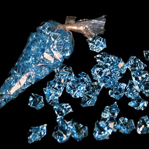Lot de 32 pierres décoratives en acrylique bleu clair brillant env. 25 x 20 mm par pierre 32 pierres par sachet 3 sachets de décoration ou de granulés de bricolage Les pierres en plastique colorées sont polyvalentes