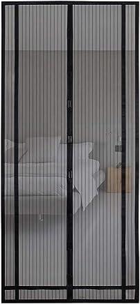 Sekey Magnetvorhang zum Insektenschutz, für Balkontür/Terrassentür, Klebemontage, 220x100cm, schwarz