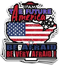 Hanabi 3 Pcs Stickers Independence Day for 4Th of July 2017 I Am The Future of America 4 × 3 Inch Vinyl Die-Cut Decals for Laptop Window