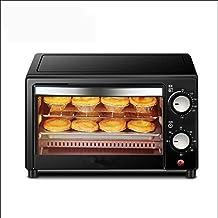 Dpliu Mini four à grille-pain avec double vitrage, four à pizza électrique avec minuterie de contrôle de la température ré...