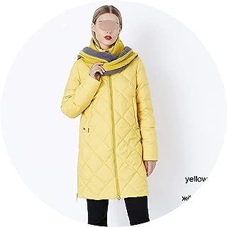 Winter Women's Outerwear Parkas Fashion Style Jacket with Scarf Warm Women Coat