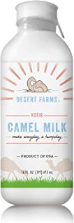 Organic Frozen Camel Milk Kefir - Natural and No Hormones Antibiotics Sugar - Pasture-Raised Grass-Fed Non-Allergenic - Pa...