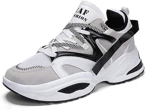 Hy Herren Laufschuhe, Frühjahr Herbst Neue Kletterturnschuhe, Student Outdoor Wanderschuhe Trainingsschuhe Reise Schuhe (Farbe   Weiß, Größe   42)