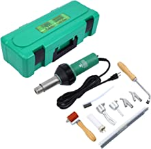 Ridgeyard 1600W Hot Air/Hot Gas Plastic Welder Welding Gun with Speed Nozzles Roller PE & PVC Plastic Rod