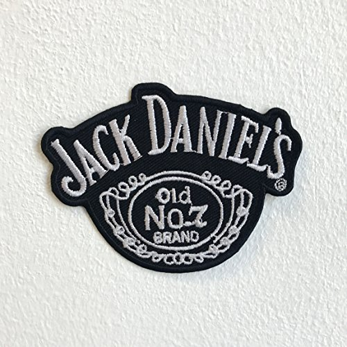 Biker-Aufnäher zum Aufbügeln, Motiv: Jack Daniels Old No 1
