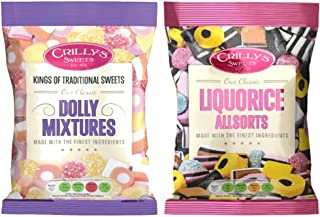 Crillys Liquorice Allsorts AND Dolly Mixtures (160g) British Sweets/Candy