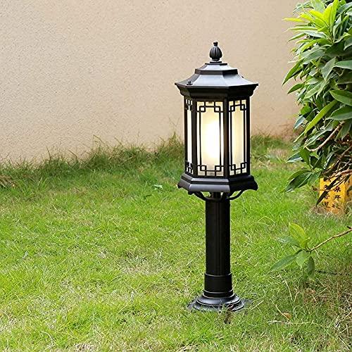 LZXH Poste de Luces al Aire Libre Lámpara de césped Lámpara de...