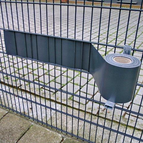 NOOR Montagehilfe für PVC Zaunblende I Verzinkt I Sichtschutzstreifen montieren leicht gemacht I Zeitersparnistool um Sichtschutz anzubringen I Abroller für Sichtschutzstreifen