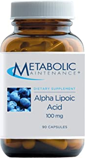 Metabolic Maintenance Alpha Lipoic Acid - 100mg ALA Supplement - Antioxidant Support for Nerve + Liver Health, May Help Ma...