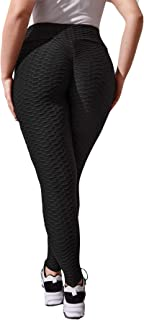 Romwe Women's Plus Size High Waist Yoga Pants Workout Gym Ruched Fitted Legging Pants