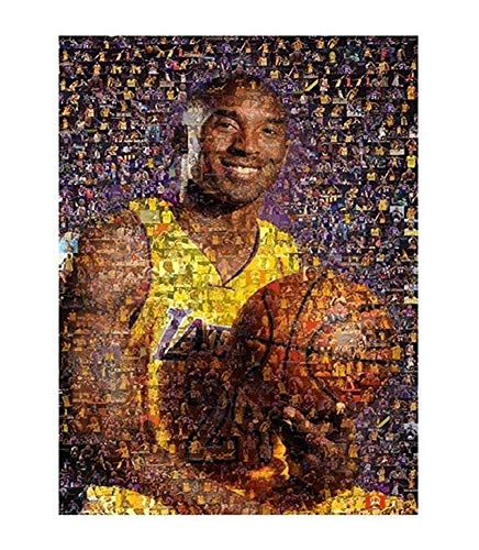 JCCOZ-URG Adults Jigsaw Puzzles 1000 piece Mosaic Basketball Superstar Poster Children Puzzle Game Interesting Toys Personalized Gift Home Family Puzzle Game URG