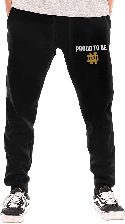 Mens University of Notre Dame Nd Logo Cotton Sweatpants Joggers Sport Training Pants Casual Trousers Sweatpants