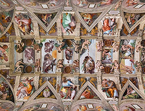 DTYDY 1000 Pezzi di Puzzle avanzati. Soffitto della Cappella Sistina Adatto per Giocare con la Famiglia.