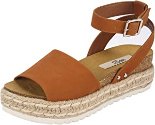 Women's Ankle Strap Wedge Platform Espadrilles Heel Sandals