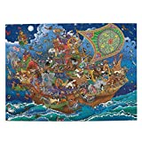 Wooden for Adults 500 Piece Jigsaw Puzzles - Noah's Ark - for Adults Kids Puzzle Game Toys Gift 15 x 20.6 Inches (38 x 52.3cm)