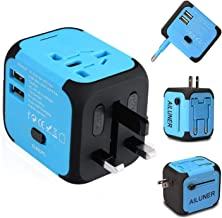 AILUNER Travel Adapter,Worldwide Power Converters Universal World Travel Plug Adapter with 2.4A Dual USB Charger & Worldwi...
