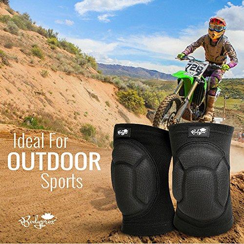 Bodyprox Protective Knee Pads, Thick Sponge Anti-Slip, Collision Avoidance Knee Sleeve (Large)