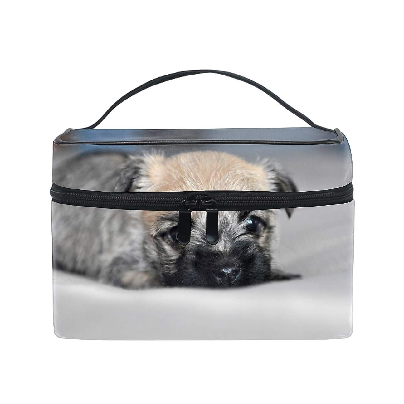 スペル契約する石ケアンテリア小型子犬犬スコットランドコスメ 化粧 ポーチ レディース 大容量 コンパクト 中身が見やすい 防水 シンプル 小物入れ 旅行