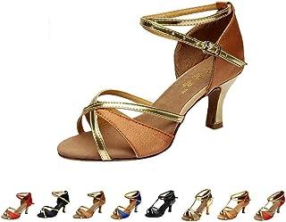 7a158070cadd20 LIN Escarpins Femmes Ballerines Moderne Talons Bas Rumba Waltz Prom  Ballroom Fête Latin Tango