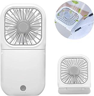 NN.ORANIE 携帯扇風機 2020新モデル 首掛け扇風機 手持ち 卓上 ハンディファン USB充電式 折り畳み 超静音 3000mAh 3段階風力調節 7枚羽根 通勤/オフィス/アウトドア/暑さ対策