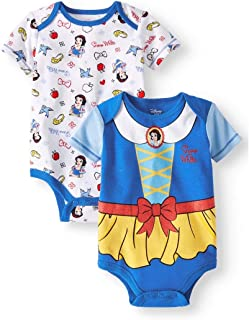 Princess Infant Girls 2pc Snow White Bodysuit Set Baby Outfit