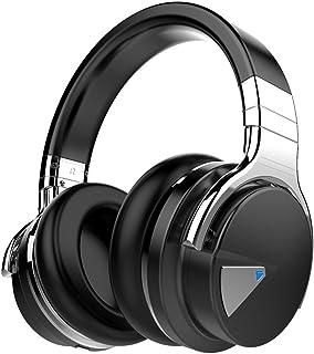 COWIN E7 Auriculares inalámbricos Bluetooth con Bajos Profundos, Almohadillas de Protección Cómodo, 30 Horas