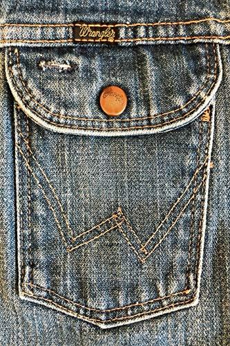 WRANGLER: 6x9 vintage Wrangler denim jeans journal for cowboys cowgirls denimheads