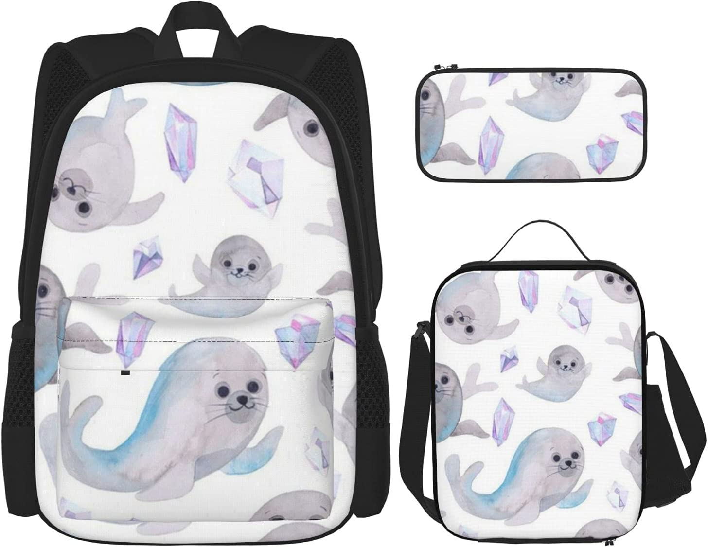 Backpack Bags Seal Time On White with Milwaukee Mall Case Lunch Bag San Diego Mall Pencil