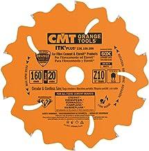 CMT Orange Tools 236.160.10H - Sierra circular para materiales duros/abrasivos 160x2.1x20 z 10 conico