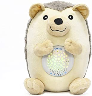 EAREST White Noise Sound Machine Baby Gifts Nightlight Star Projector & 3 Auto Timer & 15 Lullabies Sounds, Baby Sleep Soother Hedgehog Stuffed Animal Plush Toy for Babies, Toddlers & Kids