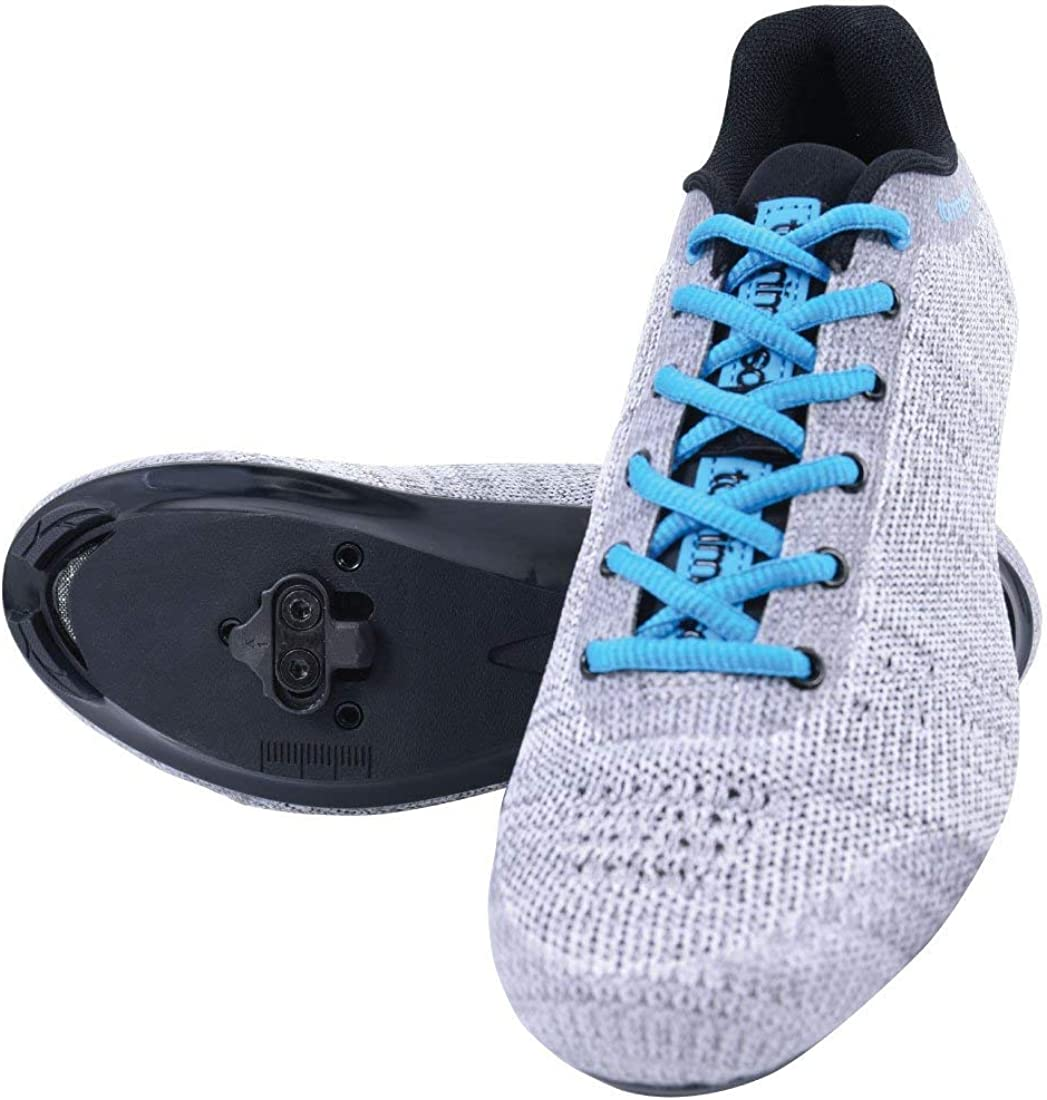 Pink Tommaso Pista Aria Knit Womens Indoor Cycling Class Ready Shoe and Bundle with Compatible Cleat Blue Black Look Delta Grey SPD