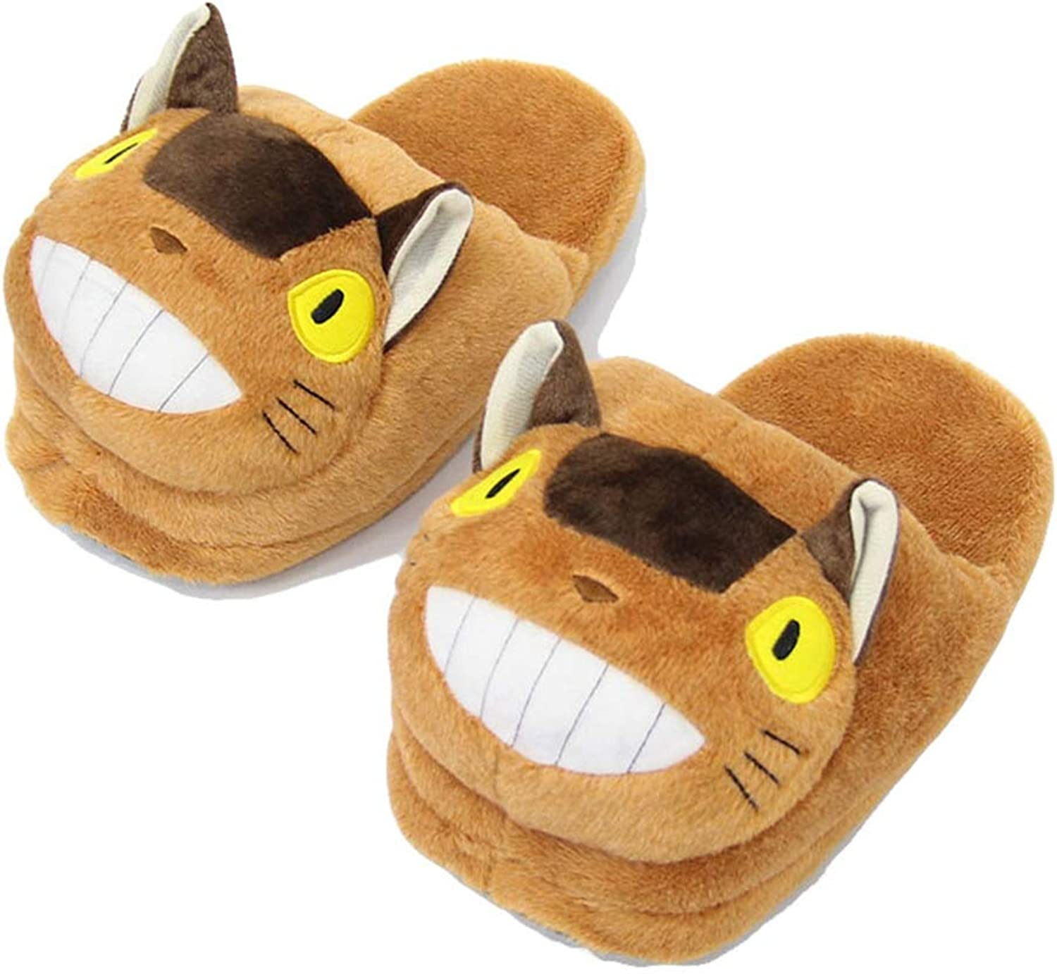 York Zhu Slippers - Winter Soft Cozy Booties Non-Slip Plush Cat Ankle Slippers