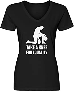 Womens Players Take The Knee for Equality Blank V-Neck T-Shirt