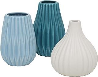Anúncio patrocinado – CasaJame móveis decoração interior acessórios vaso conjunto de 3 vasos decorativos com superfície on...