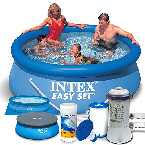 Set 7 in1 Quick Up Piscina Intex 28112 Diámetro 244 x 76 cm