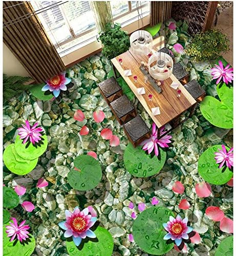 Details about  /3D Pink Lotus Leaf 134RAI Wallpaper Mural Self-adhesive Removable Sticker Amy