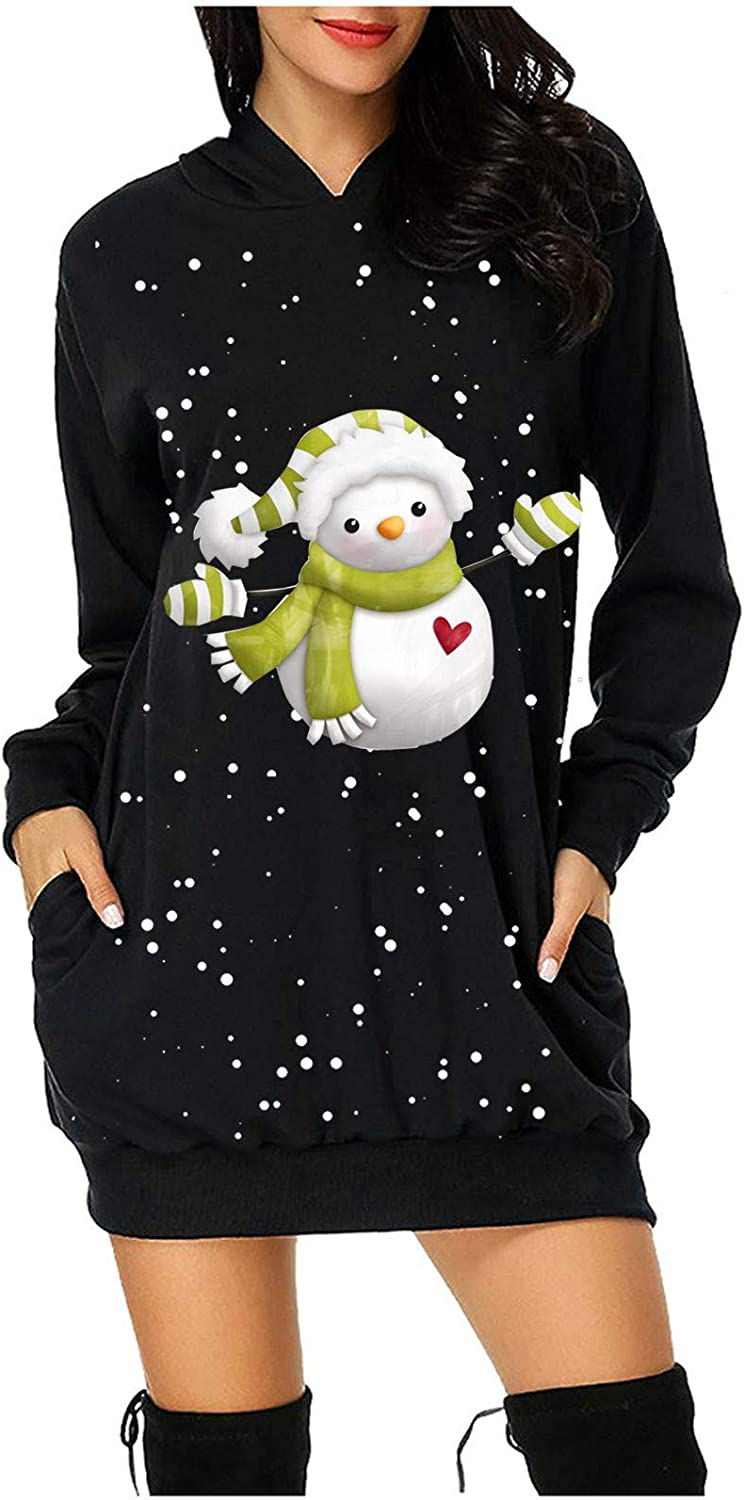 FABIURT Christmas Hoodie A surprise price is realized Dresses for Womens Mail order cheap Women Santa Cute Pri