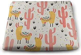 Ladninag Yellow Llamas Red Cactus