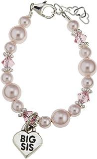 Pink Big Sis Swarovski Baby Girl Bracelet
