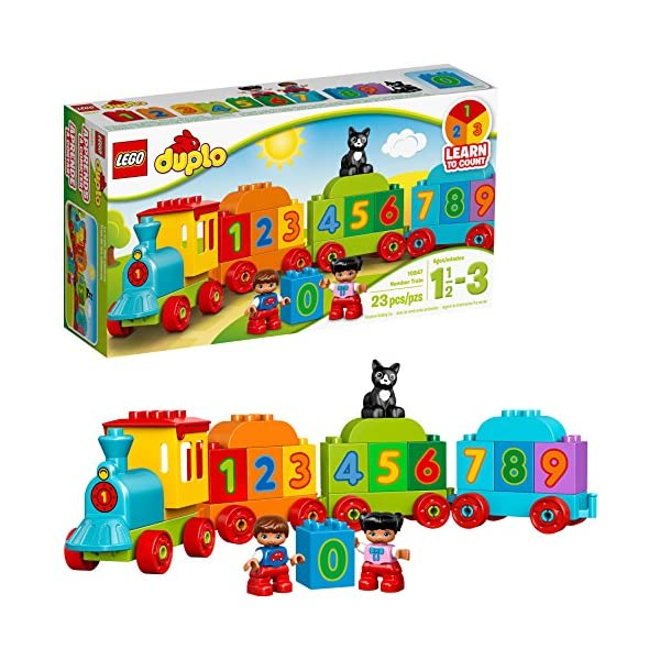 LEGO DUPLO My First Number Train 10847 Learning and Counting Train Set Building Kit...