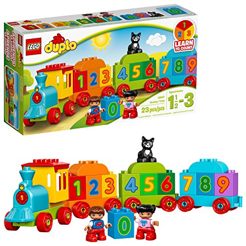 LEGO DUPLO Number Train 10847, Preschool, Pre-Kindergarten, Large Building Block Toys for Toddlers