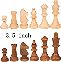 EEkiimy Wood Chess Pieces only without board For Replacement Of Missing Pieces 3.5 inch King Chess Pieces Figure